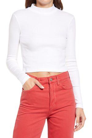 BP. Women's Mock Neck Crop Sweater
