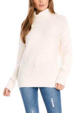 Karen Kane Women's Pompom Detail Sweater