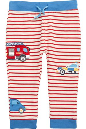Boden Infant Boy's Vehicles Stripe Stretch Cotton Pants