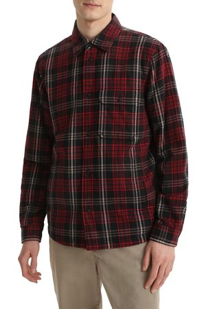 Woolrich Men's Traditional Madras Cotton Flannel Overshirt