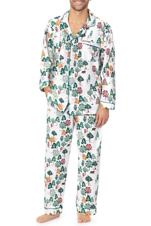 BedHead Men's Print Stretch Organic Cotton Pajamas
