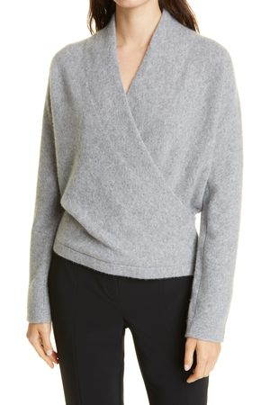 Vince Women's Wrap Front Cashmere Pullover