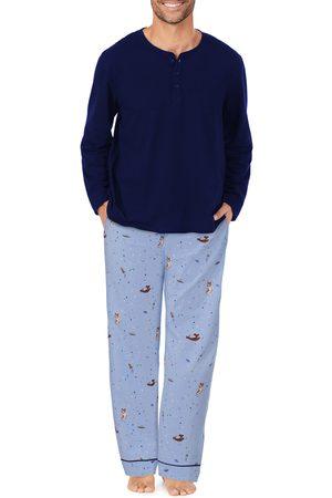 BedHead Men's Stretch Organic Cotton Henley Pajamas