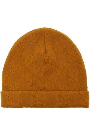 Gucci GG-jacquard Wool-blend Beanie Hat - Mens - Light