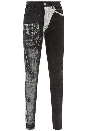 Rick Owens Men Slim - Tyrone Coated Slim-leg Jeans - Mens