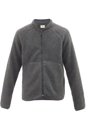 Folk Puzzle Zipped Fleece Jacket - Mens - Grey