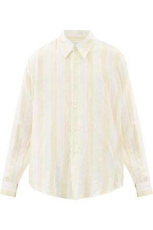 OUR LEGACY Coco Striped Cotton-blend Poplin Shirt - Mens - Stripe