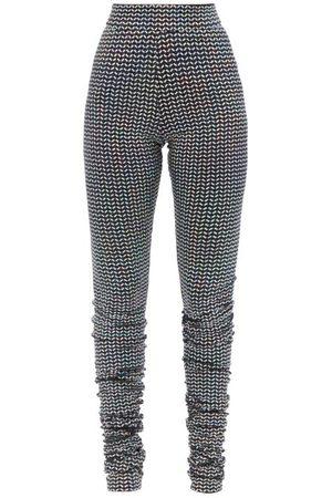 Dolce & Gabbana Women Leggings - High-rise Sequinned Lamé-jersey Leggings - Womens