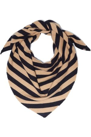 EXTREME CASHMERE Women Scarves - No.201 Striped Stretch-cashmere Scarf - Womens - Navy Multi