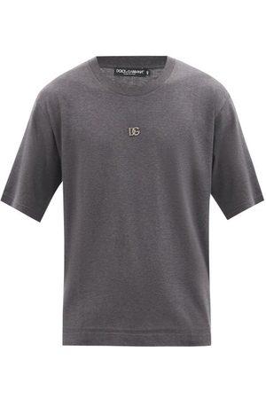 Dolce & Gabbana Men T-shirts - D & g-logo Cotton-jersey T-shirt - Mens - Dark Grey