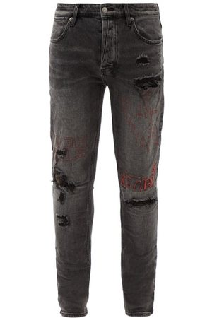 KSUBI Van Winkle Maniac Embroidered Skinny-leg Jeans - Mens