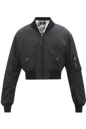 Dolce & Gabbana Men Bomber Jackets - Cropped Nylon Bomber Jacket - Mens