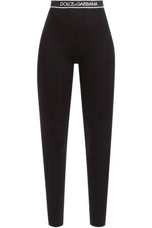 Dolce & Gabbana Logo-jacquard Cotton-blend Jersey Leggings - Womens