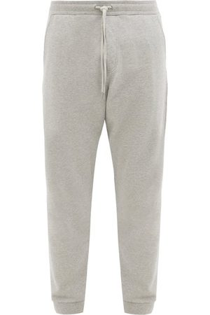 Folk Rivet Cotton-jersey Track Pants - Mens - Grey
