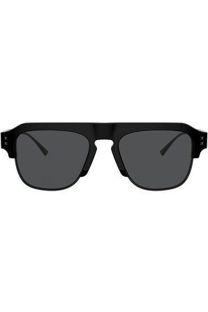 VALENTINO VLogo square-frame sunglasses - Grey
