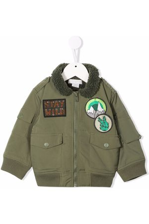 Stella McCartney Boys Bomber Jackets - Chest patch-detail bomber jacket