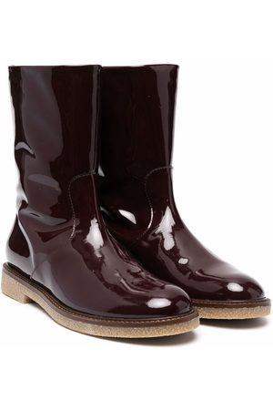 BONPOINT Girls Rain Boots - Polished-finish boots