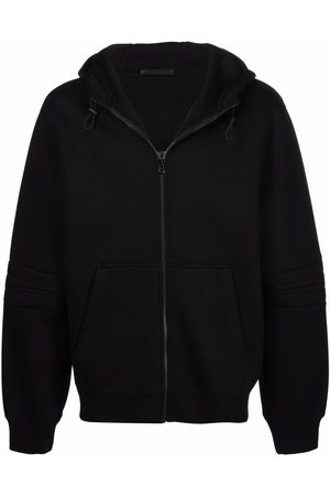 Helmut Lang Embroidered-logo zip-up hoodie