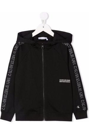 Calvin Klein Boys Bomber Jackets - Logo-print hooded jacket