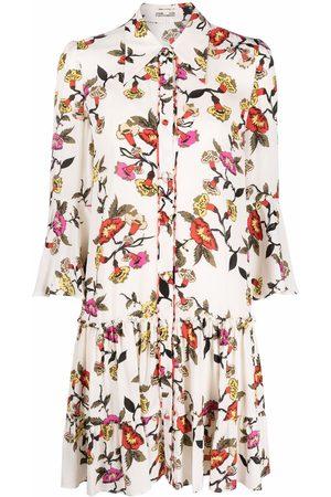 Diane von Furstenberg Floral-print midi dress - Neutrals
