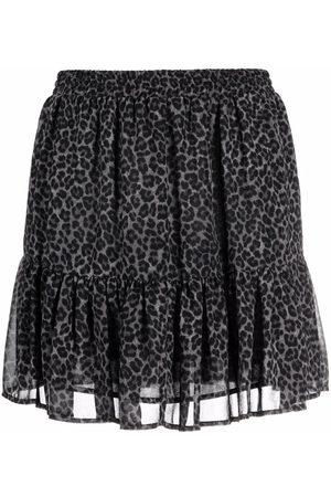 Michael Kors Women Printed Skirts - Leopard-print skirt - Grey