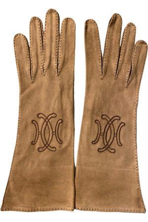 Hermès Leather long gloves