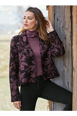 Peruvian Connection Jackets - Treillage Baby Alpaca Knit Jacket