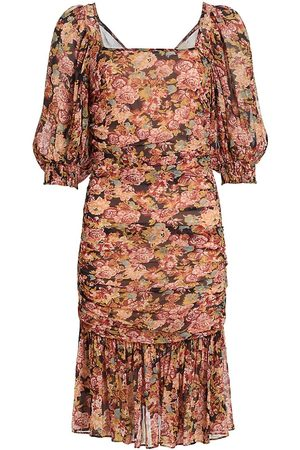 by Ti Mo Georgette Gathered Dress