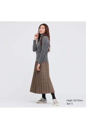 UNIQLO Women's HEATTECH Fleece Turtleneck Long-Sleeve T-Shirt, Gray, XS