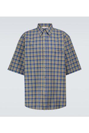Acne Studios Sandros short-sleeved checked shirt