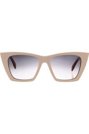 Alexander McQueen Logo-Print Square-Frame Sunglasses