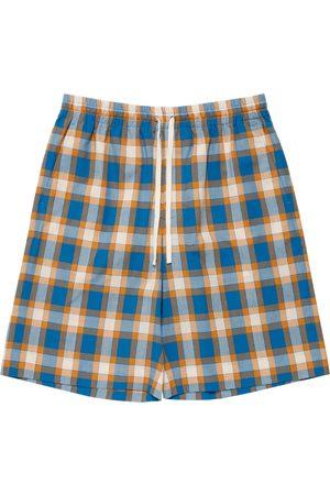Gucci Madras Cotton Shorts