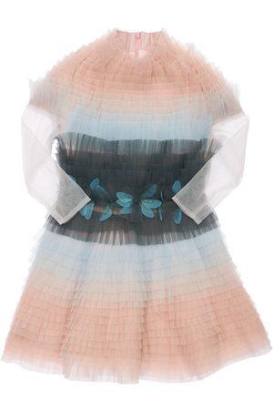 NIKOLIA Girls Dresses - Layered Tulle Dress W/ Flower Appliqués