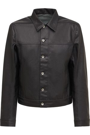 Rick Owens Men Denim Jackets - Drkshdw Worker Denim Jacket