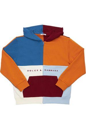 Dolce & Gabbana Embroidered Cotton Sweatshirt Hoodie