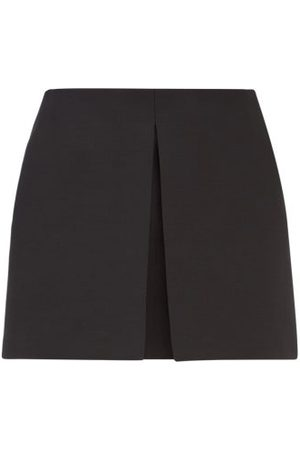 VALENTINO Crepe Couture Knife-pleat Wool-blend Skort - Womens