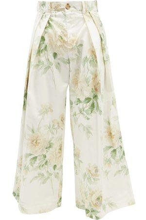 S.s. Daley Men Wide Leg Pants - Lambert Floral-print Linen-blend Wide-leg Trousers - Mens
