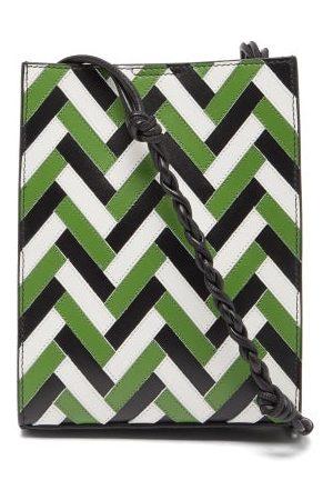 Jil Sander Tangle Braided-strap Zigzag-leather Shoulder Bag - Womens