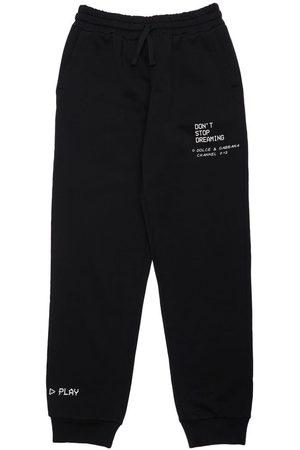 Dolce & Gabbana Girls Sweatpants - Printed Cotton Sweatpants