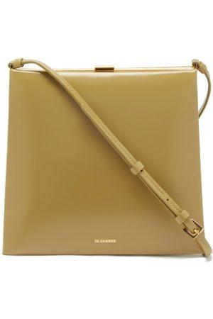 Jil Sander Small Logo-print Leather Shoulder Bag - Womens - Khaki