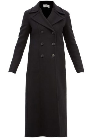 VALENTINO Women Coats - Double-breasted Wool-blend Coat - Womens