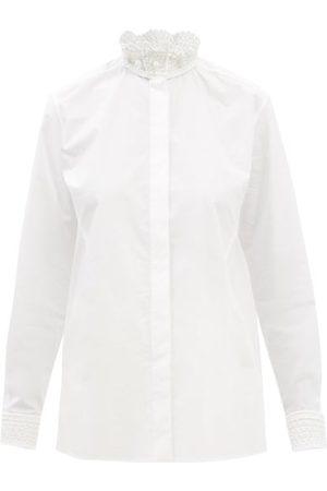 VALENTINO Stand-collar Cotton-poplin Shirt - Womens