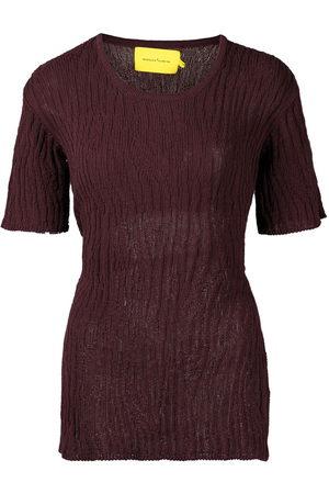 MARQUES'ALMEIDA Women Backless Tops - Tie-fastening open-back T-shirt