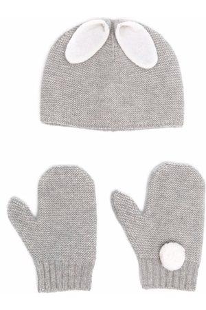 Il gufo Sets - Animal-ears knit set - Grey