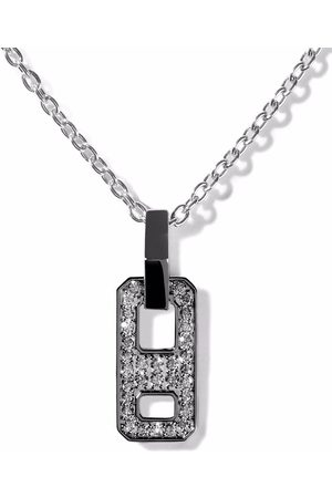 AS29 Women Necklaces - 18kt gold mini DNA pave diamond necklace