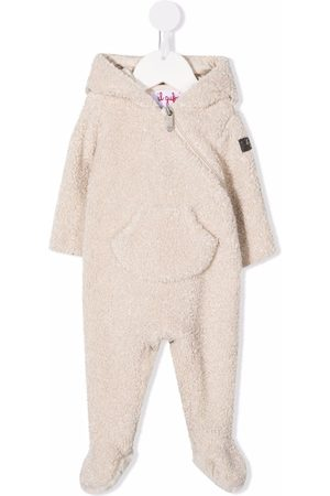 Il gufo Shearling animal-ears pajama - Neutrals