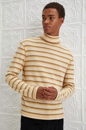 Standard Men Turtlenecks - Joseph Waffle Knit Striped Rollneck Top
