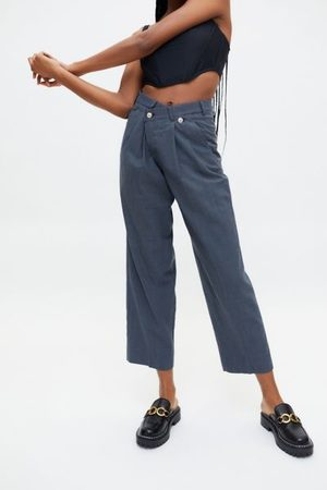 Urban Women Pants - Recycled Plaid Crossover Pant
