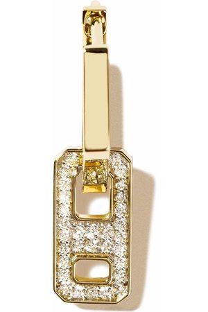 AS29 Women Earrings - 18kt yellow mini DNA pave diamond earring