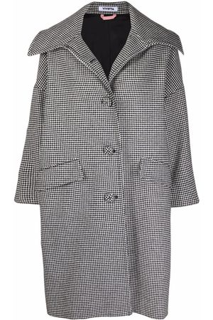 VIVETTA Women Coats - Check-print single-breasted coat
